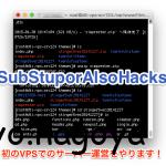 初めまして!SubStuporAlsoHacksに初投稿です!!
