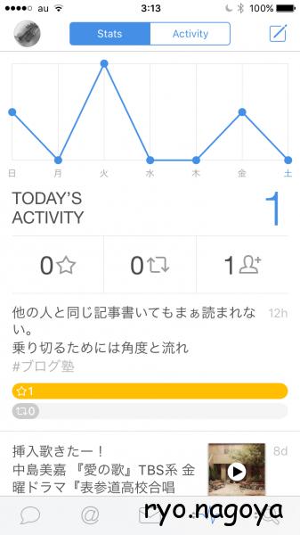 activityが増えてた