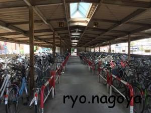 小牧駅の自転車置き場はここにある[小牧駅南自転車駐車場]
