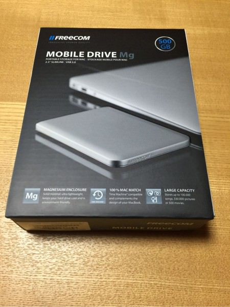 MacにぴったりなHDD-FreecomStyle「Freecom MobileDrive Mg 500GB USB3.0」を3,980円で買えた!