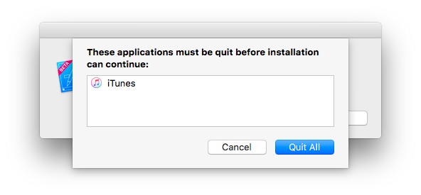 iTunesを終了しておかないといけない