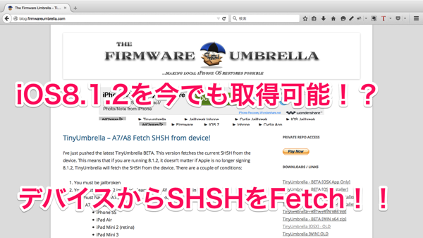 The Firmware Umbrella TinyUmbrella iOS Android hacking jailbreaking information