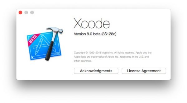 Version 8.0 beta (8S128d)をインストール完了